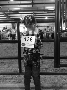 Little girl contestant at stock show