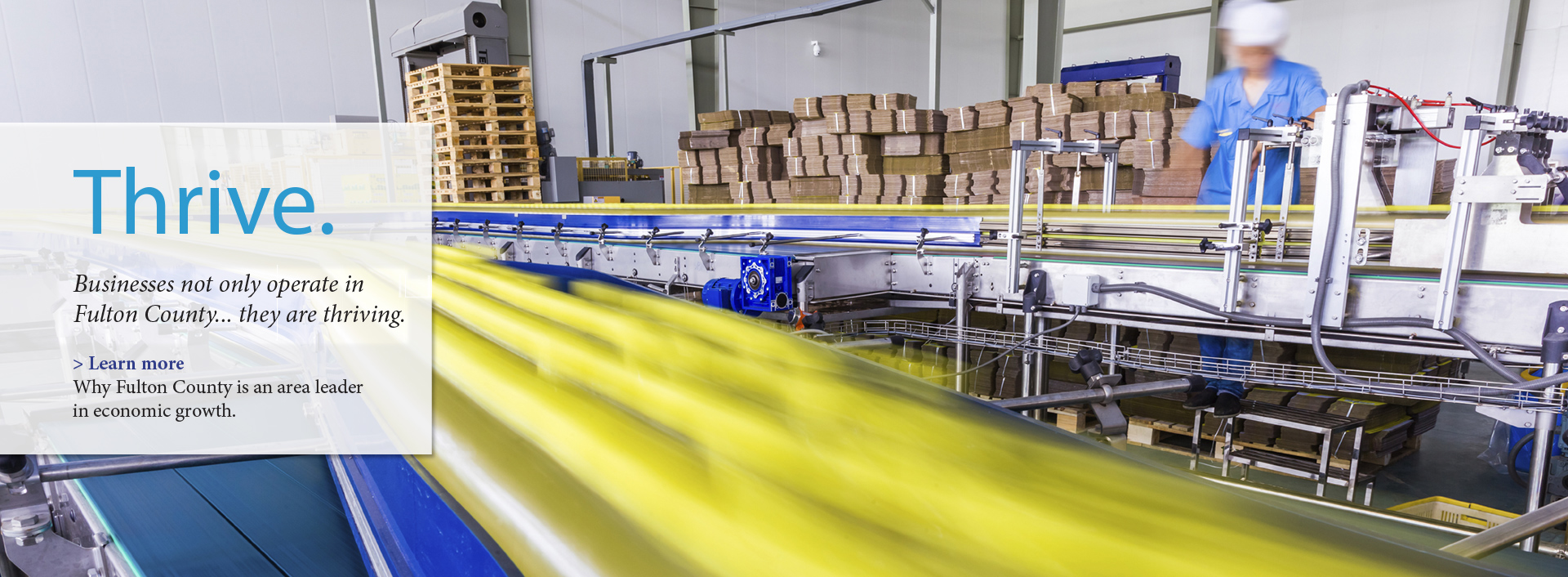 Factory conveyor belt in motion