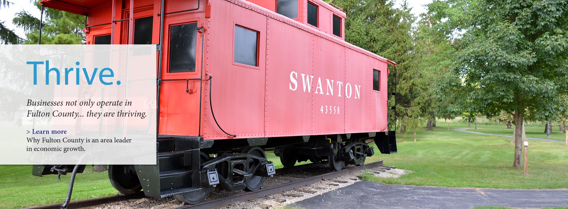 Swanton caboose